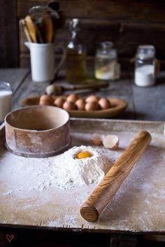 rolling pin in a large baking sheet pan...