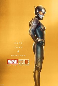 Marvel Studios More Than A Hero Poster Series Wasp - Marvel Celebrates 10 Years of the MCU With Timeline, Contest, and a TON of Posters Heroes Dc Comics, Bd Comics, Marvel Dc Comics, Marvel Heroes, Marvel Live, Poster Marvel, Captain Marvel, Captain America, The Avengers