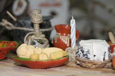 panes y queso de plastilina