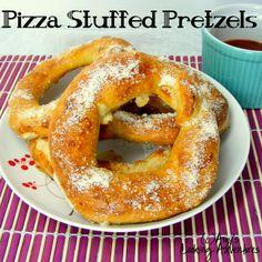 Stuffed Pretzel Rings