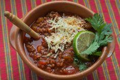 all-beef chili colorado #football #recipe