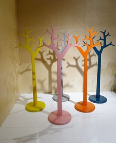 Milano Salone del Mobile 2012: New colours for the Swedese Tree coat rack by Michael Young and Katrin Olina