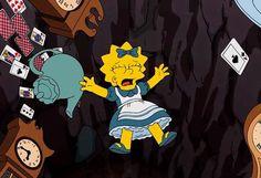 This is kinda funny Simpsons Meme, Simpsons Quotes, The Simpsons, Lewis Carroll, Cartoon Icons, Cartoon Characters, Tim Burton, Adventures In Wonderland, Alice In Wonderland
