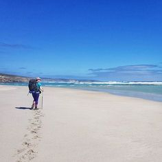 Flashback to last week when me and @joebara89 had the entire #KangarooIsland Wilderness Trail to ourselves.  The ocean was so blue it matched my @macpac shirt. . . . #hiking #hikingculture #hike #hikelife #everytrailconnects #rei1440project #52hikechallenge2018 #wildnernessculture #staywild #beach #blue #sand #beaches #australia #straya #exploreaustralia #southaustralia  #womenwhohike #shewentwild #travelplaylive #wearexplorers #radgirlscollective