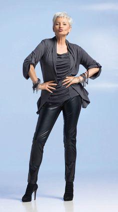 Gabriela Rickli, 59 and still rocking #leather