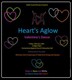 valentine's day dance flyer