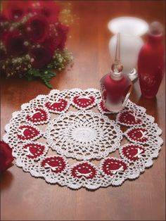 Ring of Love Crochet Pattern Download from e-PatternsCentral.com -- Brilliant hearts and petite bows show your love all year long.