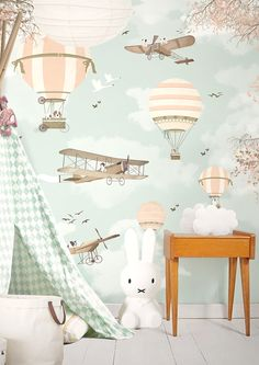 Little Hands Wallpaper - Bring Magic into Your Kids Room - Petit & Small - Wallpapers are the perfect way to create a room full of soul and personality and, of course, the be - Baby Bedroom, Baby Boy Rooms, Baby Boy Nurseries, Nursery Room, Kids Bedroom, Nursery Decor, Baby Decor, Kids Decor, Little Hands Wallpaper
