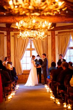 Alpenglow Stube Wedding Colorado Weddings Keystone On Mountain Venue IN Photography Rustic Chandelier Decor