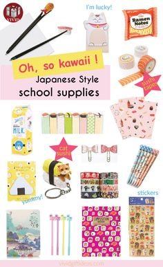 Back to school supplies for girls   Super cute Japanese stationery Japanese School Supplies, School Supplies For Teachers, Teacher Supplies, Back To School Supplies, Back To School Gifts, Japanese Stationery, Kawaii Stationery, Stationery Items, Cute Japanese