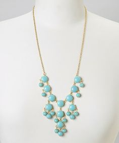 Take a look at this Turquoise Mini Bubble Necklace by Polka Dotsy on #zulily today!