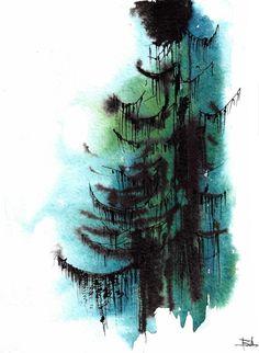 Pine Tree tattoo, for my home, Minnesota.