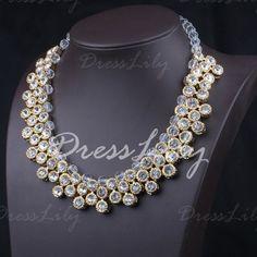Stylish Women's Rhinestone Layered Necklace