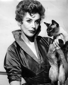 Kay Kendall...                          Kay Kendall         One can only guess why the Siamese in the actress's arm was named Pyewacket, a refe...
