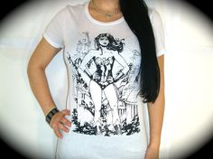 "Utopia Apparel ""WONDER WOMAN"" Perfect Fit Tee In White. $19.99, via Etsy."