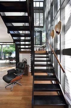 Bark Architects designed the Marcus Beach House, located on the Sunshine Coast of Queensland, Australia.