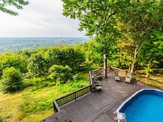 Laurel View Retreat -The most spectacular view awaits you! Vacation Rental in Uniontown from Stone Houses, Private Pool, Weekend Getaways, Swimming Pools, Outdoor Structures, Exterior, Cincinnati, Pittsburgh, Rental Homes