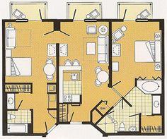 1000 images about wdw disney 39 s boardwalk villas on - 2 bedroom suites walt disney world resort ...