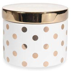 Scatola con motivi a pois in ceramica H 9 cm RING