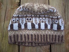 Ravelry: Fair Owl Hat pattern by Corina Cook ... FREE ... DK wgt ... 100 - 150 yards three sizes