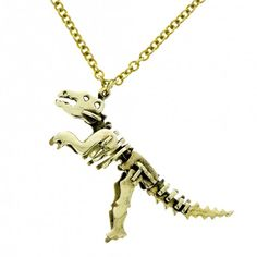 T. rex skeleton pendant and chain