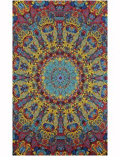 90 x trippy wall tapestry. Life through a kaleidoscope of mandala art; the psychedelic sunburst tapestry takes you there. Tapestry Beach, Tapestry Fabric, Dorm Tapestry, Hippie Shop, Hippie Art, Psychedelic Tapestry, Psychedelic Decor, Psychedelic Pattern, Trippy Wallpaper