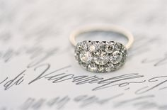 Vintage inspired #engagement #ring