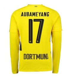Billiga Fotbollströjor Dortmund Aubameyang 17 Hemmatröja 17-18 Långärmad Neymar, Messi, Ronaldo, Graphic Sweatshirt, Sweatshirts, Sports, Sweaters, Tops, Borussia Dortmund