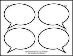 Printable Speech Bubbles Cake Ideas and Designs