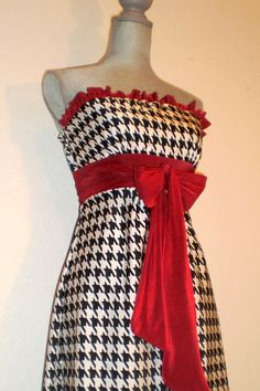 Bama houndstooth Gorgeous Gameday Dress for by TrueColorsCouture, $80.00