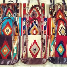 El Paso Saddle Blanket Navajo Purses Facebook.com/ChickElms 254-968-3920 keywords: aztec, south west, southwest, south western, leather, cowgirl, western, accessory, handbag, tote