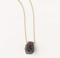 Drusy Pendant Necklace
