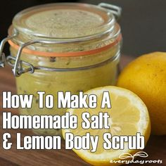 How to shed some pounds off by using a body scrub. Simple DYI scrub recipe