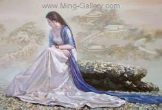 PRT0191 - OilonCanvas Painting of Oriental Lady for Sale
