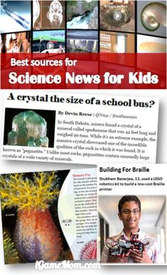 Reading science news has many benefits for kids, these age appropriate science news websites apps are the best! Many with read level index and lesson plans. News Articles For Kids, Science News Articles, Kids News, Science Resources, Science Lessons, Science Education, Teaching Science, Science Activities, Science Tools
