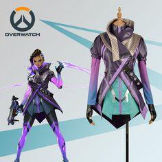 Game OW Overwatch Sombra Nanosuit Cosplay Costume Clothing Customized #Cosplayfly #CompleteCostume