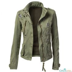 Women's Military Anorak Jacket with Pockets and other apparel, accessories and trends. Browse and shop 44 related looks. Military Jacket Women, Military Style Jackets, Military Fashion, Anorak Jacket Green, Khaki Jacket, Amazon Clothes, Mantel, Camouflage, Jackets For Women