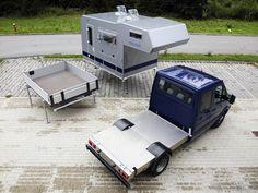 Camping B. Truck Camper, Pickup Camper, Mini Camper, Camper Trailers, Motorhome, Flatbed Truck Beds, T5 Bus, Vw Camping, Camping Cabins