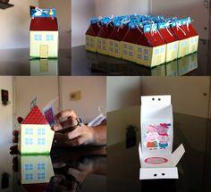 Hice para el cumpleaños de mi hija tarjetas 3D de Peppa Pig Cumple Peppa Pig, George Pig, Alice, Pig Party, 4th Birthday, Birthday Decorations, Party Themes, Gift Wrapping, Holiday Decor