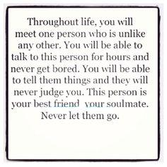 Best friend/soulmate