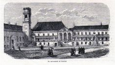 Antique print Portugal / university Coimbra 1865 gravura Universidade