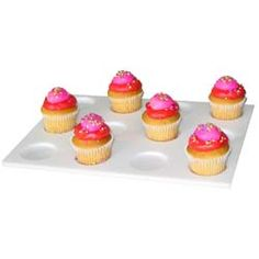 The cupcake trays sold by ColdCore Inc. are made from grade-A acrylic and are food-safe!