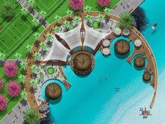 30 Trendy Ideas For Landscape Design Plans Resort Landscape Model, Landscape Sketch, Landscape Design Plans, Landscape Concept, Landscape Drawings, Urban Landscape, Park Landscape, Water Architecture, Landscape Architecture Drawing
