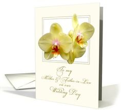 sold to customer in Massachusetts, United States   lemon orchids groom's parents card (638881)