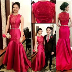 My ICA Prom headturner, Courtney in POPO GO. ❤  #PopoGo #Popogomanila #womenswear #womensfashion #womeninstyle #womensstyle #style #fashion #longgown #gown #Red #bloodyred #IcaProm #Prom #PromDress #promgown #Laces #buttondetails #Serpentine #mermaid #nudedetail #laceback Thank you for entrusting in me your Prom night!  Make up by #BelinaOng #MakeUpByBelinaOng