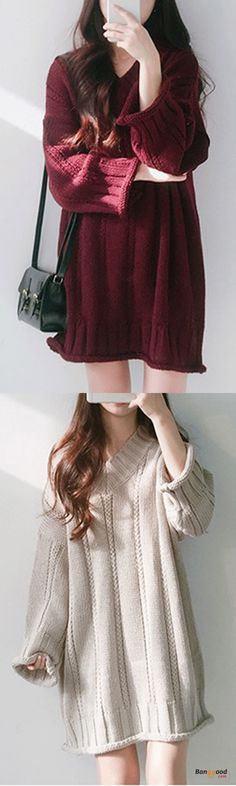 US$39.79 + Free shipping. Color: Black, Off-white, Wine Red. Women's Sweaters, Winter Outfits, Women's Clothes.