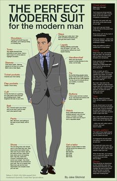 Styling for himself - Modern Suit.