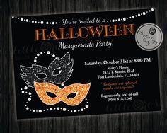 Halloween Masquerade Party Invitation