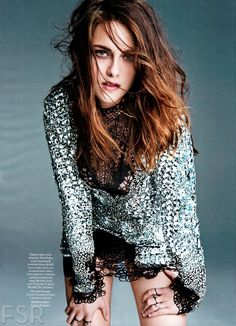 "Kristen Stewart photographed by Tesh in a photo shoot ""Girl on the Edge"" for ""Marie Claire"" US magazine march 2014......."