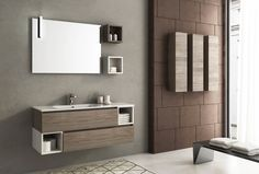 50 Magnifici Mobili Bagno Sospesi dal Design Moderno | Bathroom ...